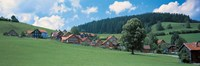 """Mountainside Village, Appenzell Switzerland by Panoramic Images - 36"""" x 12"""""""