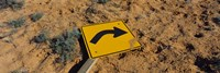 """Close-up of an arrow signboard in a desert, Emery County, Utah, USA by Panoramic Images - 36"""" x 12"""""""