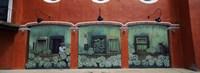 Mural on a wall, Cancun, Yucatan, Mexico Fine Art Print