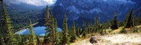 """High angle view of a lake, Grinnell Lake, US Glacier National Park, Montana, USA by Panoramic Images - 37"""" x 12"""""""