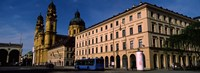 """Buildings at a town square, Feldherrnhalle, Theatine Church, Odeonsplatz, Munich, Bavaria, Germany by Panoramic Images - 33"""" x 12"""""""