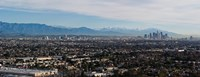 """High angle view of a city, Mt Wilson, Mid-Wilshire, Los Angeles, California, USA by Panoramic Images - 31"""" x 12"""""""