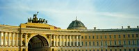 """Low angle view of a building, General Staff Building, State Hermitage Museum, Palace Square, St. Petersburg, Russia by Panoramic Images - 33"""" x 12"""""""