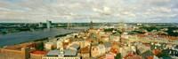 "High angle view of a cityscape, Daugava River, Riga, Latvia by Panoramic Images - 36"" x 12"", FulcrumGallery.com brand"
