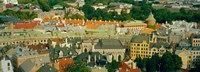 """Aerial view of buildings in a city, Riga, Latvia by Panoramic Images - 34"""" x 12"""", FulcrumGallery.com brand"""