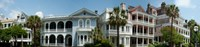 """Houses along Battery Street, Charleston, South Carolina by Panoramic Images - 51"""" x 12"""""""