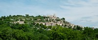 """Town on a hill, Lacoste, Vaucluse, Provence-Alpes-Cote d'Azur, France by Panoramic Images - 29"""" x 12"""""""