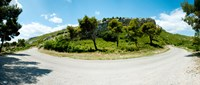 """Curve in the road, Bouches-Du-Rhone, Provence-Alpes-Cote d'Azur, France by Panoramic Images - 28"""" x 12"""", FulcrumGallery.com brand"""
