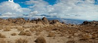 Rock formations in a desert, Alabama Hills, Owens Valley, Lone Pine, California, USA Fine Art Print