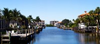 "Waterfront homes in Naples, Florida, USA by Panoramic Images - 27"" x 12"""