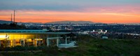 """City at Dusk, Baldwin Hills Scenic Overlook, Culver City, Los Angeles County, California, USA by Panoramic Images - 30"""" x 12"""""""