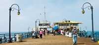Tourists on Santa Monica Pier, Santa Monica, Los Angeles County, California, USA Fine Art Print