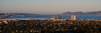 """Cityscape with Golden Gate Bridge and Alcatraz Island in the background, San Francisco, California, USA by Panoramic Images - 36"""" x 12"""""""