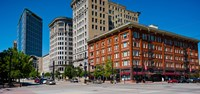 "Buildings in a downtown district, Salt Lake City, Utah by Panoramic Images - 26"" x 12"""
