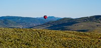 "Hot air balloon flying in a valley, Park City, Utah, USA by Panoramic Images - 25"" x 12"""