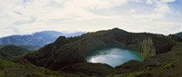 "Volcanic lake on a mountain, Mt Kelimutu, Flores Island, Indonesia by Panoramic Images - 28"" x 12"""
