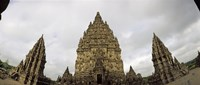"""Close Up of 9th century Hindu temple, Indonesia by Panoramic Images - 28"""" x 12"""""""
