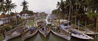 "Fishing boats in small village harbor, Madura Island, Indonesia by Panoramic Images - 29"" x 12"" - $34.99"