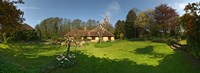"Millstream cottages, Egerton, Kent, England by Panoramic Images - 33"" x 12"""