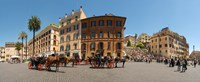 """Tourists at Spanish Steps, Piazza Di Spagna, Rome, Lazio, Italy by Panoramic Images - 29"""" x 12"""" - $34.99"""