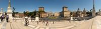 "Tourists at town square, Palazzo Venezia, Piazza Venezia, Rome, Lazio, Italy by Panoramic Images - 40"" x 12"" - $34.99"