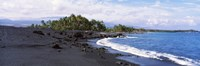 """Surf on the beach, Hawaii, USA by Panoramic Images - 36"""" x 12"""""""