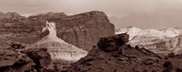 "Capitol Reef National Park, Utah (black & white) by Panoramic Images - 30"" x 12"""