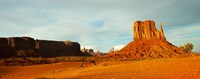 """Buttes Rock Formation with Blue Sky at Monument Valley by Panoramic Images - 30"""" x 12"""""""