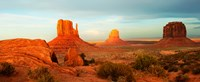 "Three Buttes Rock Formations at Monument Valley, Utah-Arizona Border, USA by Panoramic Images - 29"" x 12"""