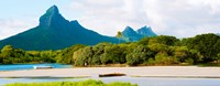 """Rempart and Mamelles peaks, Tamarin Bay, Mauritius island, Mauritius by Panoramic Images - 31"""" x 12"""""""