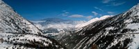 """Snowcapped mountains and Forests, Switzerland by Panoramic Images - 34"""" x 12"""""""