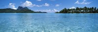 Motu and lagoon, Bora Bora, Society Islands, French Polynesia Fine Art Print