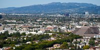 """High angle view of a city, Culver City, Santa Monica Mountains, Los Angeles County, California, USA by Panoramic Images - 24"""" x 12"""""""