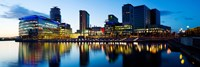 Media City at dusk, Salford Quays, Greater Manchester, England 2012 by Panoramic Images, 2012 - various sizes