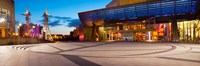 """The Lowry complex at dusk, Salford Quays, Greater Manchester, England by Panoramic Images - 36"""" x 12"""""""