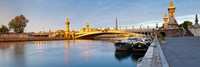 """Bridge across the river, Pont Alexandre III, Seine River, Paris, Ile-De-France, France by Panoramic Images - 36"""" x 12"""""""