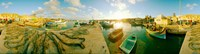 """Boats at harbor, Malta by Panoramic Images - 45"""" x 12"""""""