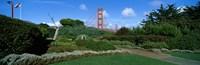 "Suspension bridge, Golden Gate Bridge, San Francisco Bay, San Francisco, California, USA by Panoramic Images - 37"" x 12"""
