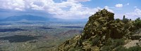 """Aerial view of Tucson Mountain Park, Tucson, Arizona by Panoramic Images - 33"""" x 12"""""""
