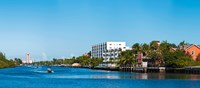"""Motorboats on Intracoastal Waterway looking towards Boca Raton, Florida, USA by Panoramic Images - 27"""" x 12"""""""