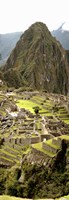 High angle view of an archaeological site, Machu Picchu, Cusco Region, Peru Fine Art Print