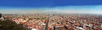 """Aerial view of cityscape, Mexico City, Mexico by Panoramic Images - 40"""" x 12"""""""