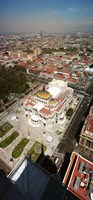 "High angle view of Palacio de Bellas Artes, Mexico City, Mexico by Panoramic Images - 12"" x 26"""