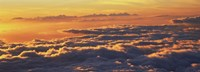"Sunset above the clouds, Hawaii, USA by Panoramic Images - 33"" x 12"""