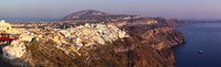"""High angle view of a town at coast, Fira, Santorini, Cyclades Islands, Greece by Panoramic Images - 39"""" x 12"""""""