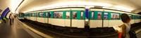 360 degree view of a metro train, Paris, Ile-de-France, France Fine Art Print