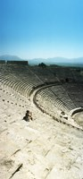 """Ancient theatre in the ruins of Hierapolis, Pamukkale,Turkey (vertical) by Panoramic Images - 12"""" x 26"""""""
