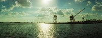 """Dockyard at the riverfront, East River, Red Hook, Brooklyn, New York City, New York State, USA by Panoramic Images - 32"""" x 12"""""""