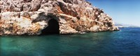 """Entrance of the Pirates Cave on the Mediterranean Sea, Kekova, Antalya Province, Turkey by Panoramic Images - 30"""" x 12"""", FulcrumGallery.com brand"""