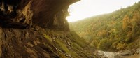 """View of the Catskills from Kaaterskill Falls in autumn, New York State, USA by Panoramic Images - 29"""" x 12"""""""